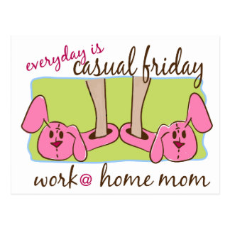 Work at Home Mom Postcard
