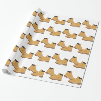 Work Boots Wrapping Paper