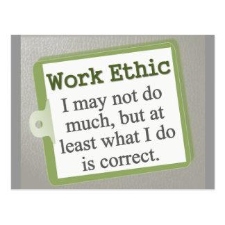 Work Ethic  Postcard