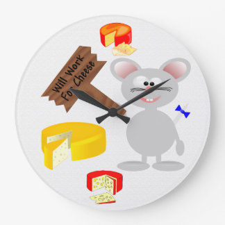 Work For Cheese Clocks