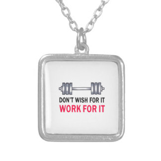 WORK FOR IT SQUARE PENDANT NECKLACE