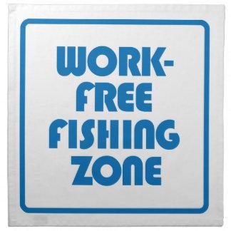 Work Free Fishing Zone Printed Napkin