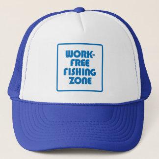 Work Free Fishing Zone Trucker Hat