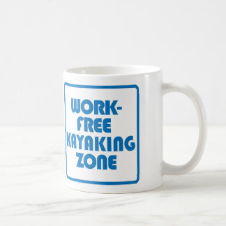 Work Free Kayaking Zone Coffee Mug