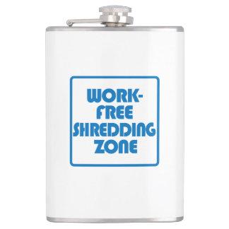 Work Free Shredding Zone Hip Flask
