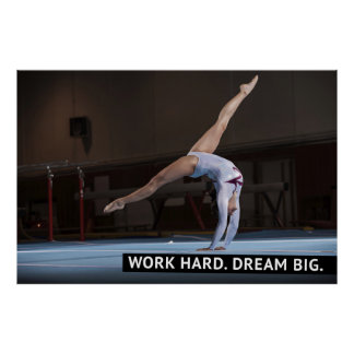 Work Hard, Dream Big - Motivational Poster