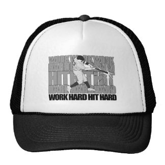 Work Hard Hit Hard - Baseball Hats