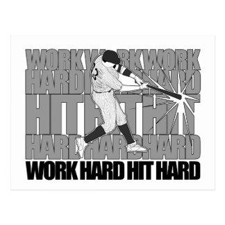 Work Hard Hit Hard Postcard