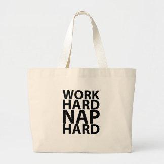 WORK HARD NAP HARD.png Canvas Bags
