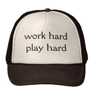 Work hard Play hard Mesh Hat