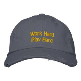 Work Hard, Play Hard Embroidered Baseball Cap