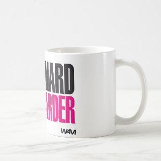 work hard play harder basic white mug