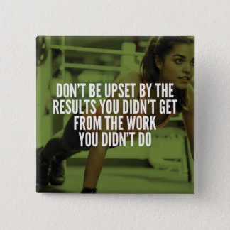 Work Hard - Women's Gym Workout Motivational 15 Cm Square Badge