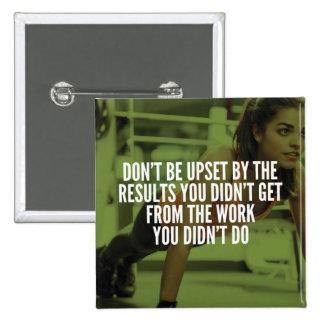 Work Hard - Women's Gym Workout Motivational 15 Cm Square Badge
