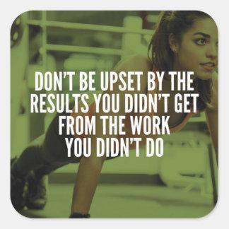 Work Hard - Women's Gym Workout Motivational Square Sticker
