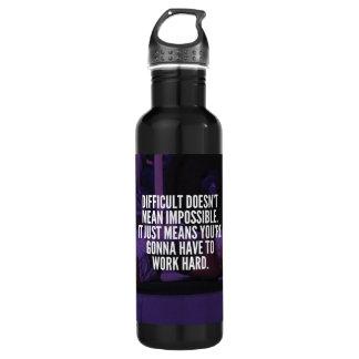 Work Hard - Women's Workout Motivational 710 Ml Water Bottle