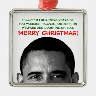 Work Harder Christmas Barack Obama Christmas Ornament