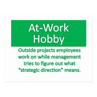 Work Hobby Postcard
