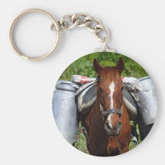Work horse basic round button key ring