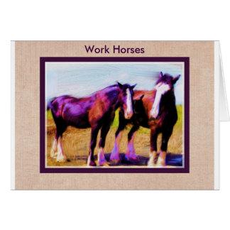Work Horses Card