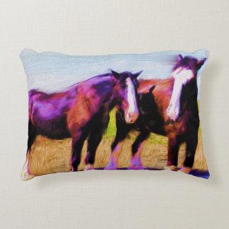 Work Horses Decorative Cushion