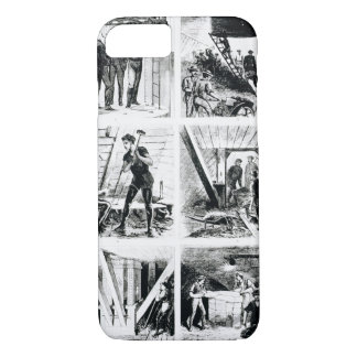Work inside the caissons, constucting Brooklyn Bri iPhone 7 Case