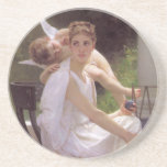 Work Interrupted, William-Adolphe Bouguereau Coasters