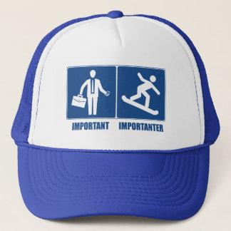 Work Is Important, Snowboarding Is Importanter Trucker Hat