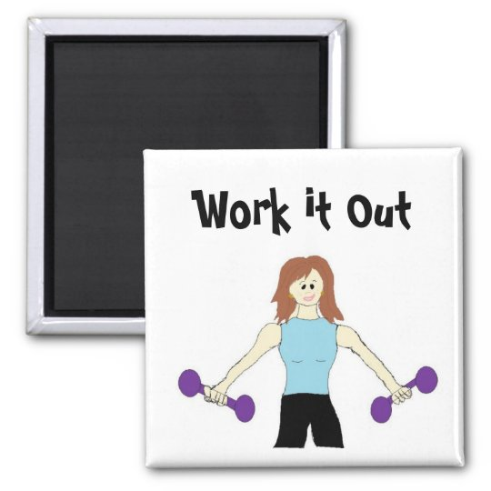 Work it Out Weight Lifting Magnet