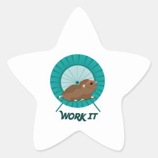 Work It Star Sticker