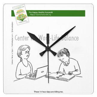 Work Life Balance Clock