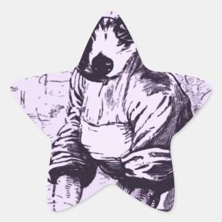 Work like a dog star sticker