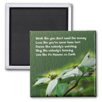 Work Love Dance Dogwood Inspirational Magnet