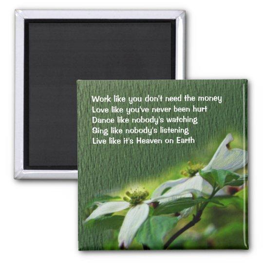 Work Love Dance Dogwood Inspirational Magnet