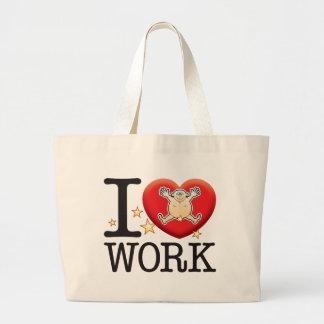 Work Love Man Large Tote Bag