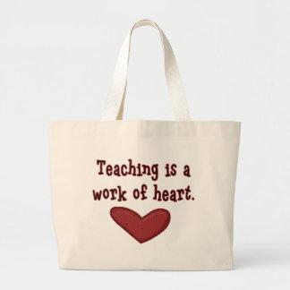 Work of Heart Teacher Canvas Tote Bag