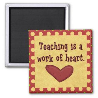 Work of Heart Teacher Square Magnet