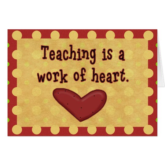 Work of Heart Teacher Thank You Card