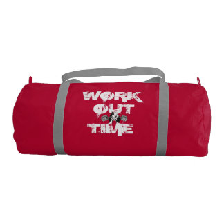 Work Out Time Duffle Gym Bag