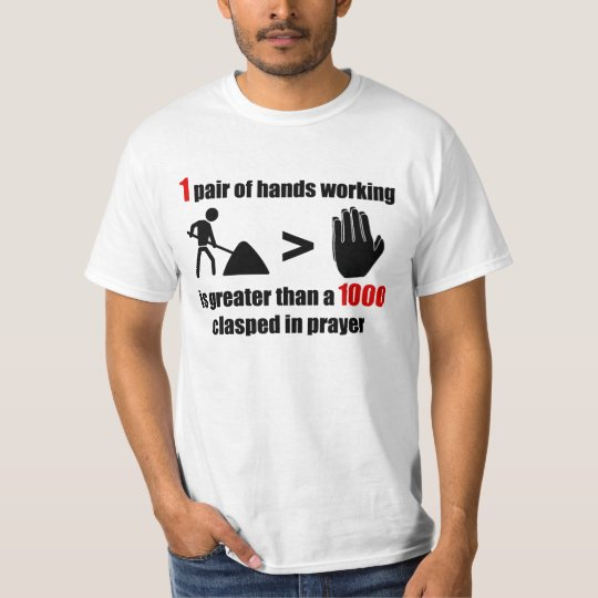 Work > Prayer - Mens T-Shirt