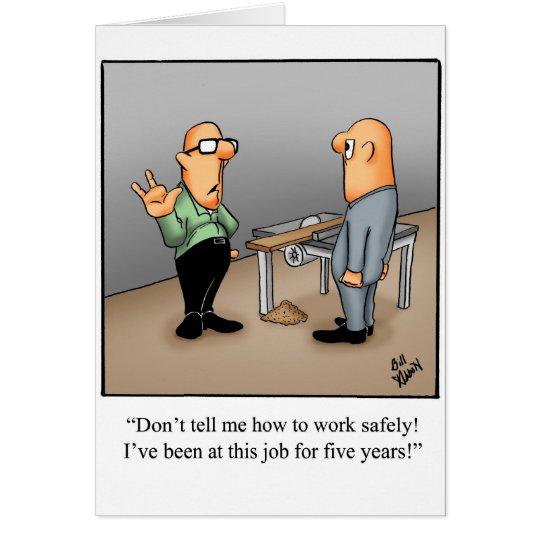 Work Safety Greeting Card Humour Blank