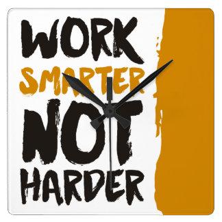 Work Smarter Not Harder Clock