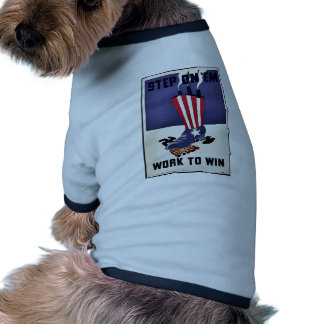 Work To Win Dog T-shirt