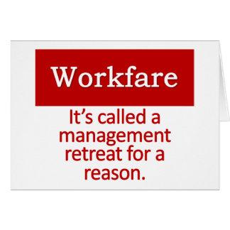 Work Warfare  Note Card