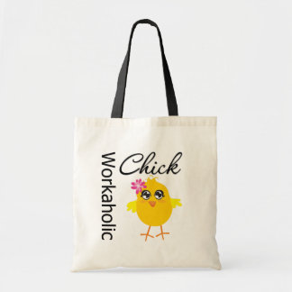 Workaholic Chick Budget Tote Bag