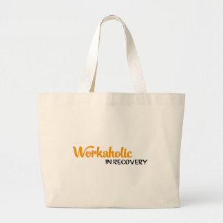 workaholic in recovery canvas bag
