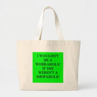workaholic jumbo tote bag