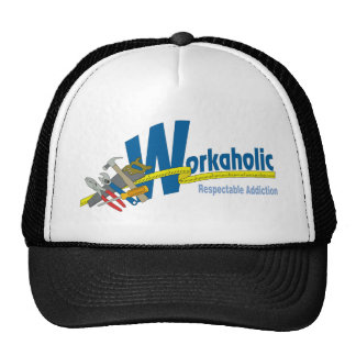 Workaholic Respectable Addiction Trucker Hats
