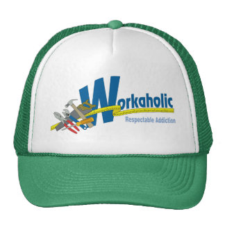 Workaholic Respectable Addiction Hats