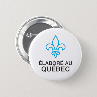 Worked out with Quebec, flower of French Lily 6 Cm Round Badge